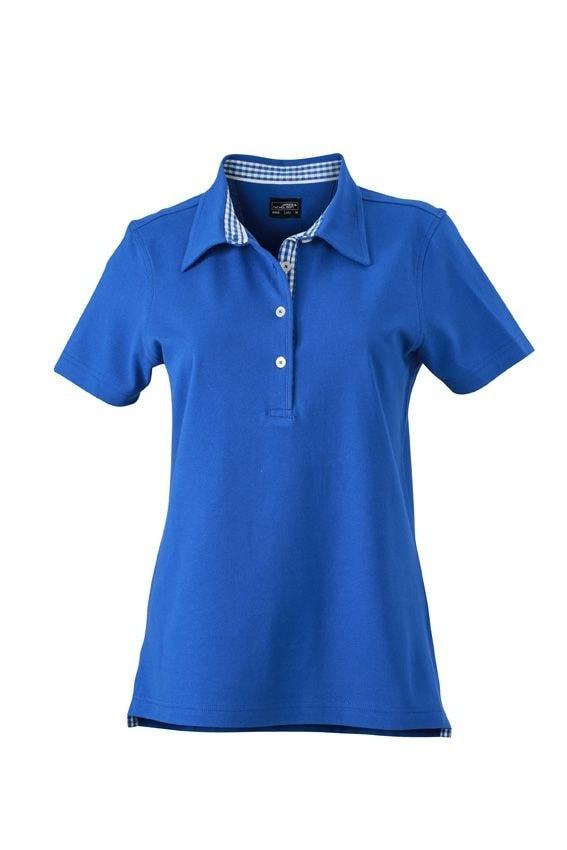Elegantní dámská polokošile JN969 - Královská modrá / královsky modro-bílá   L