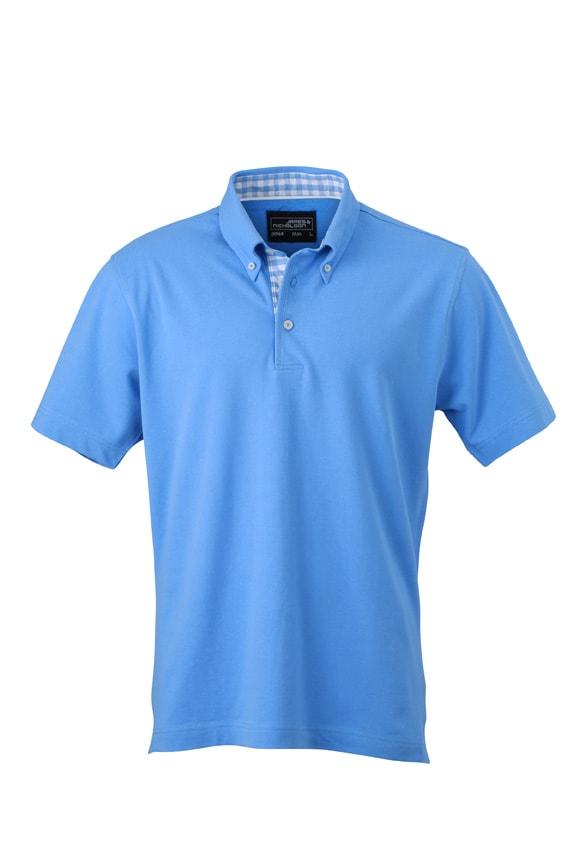 Elegantní pánská polokošile JN964 - Ledově modrá / ledově modrá / bílá | XXXL