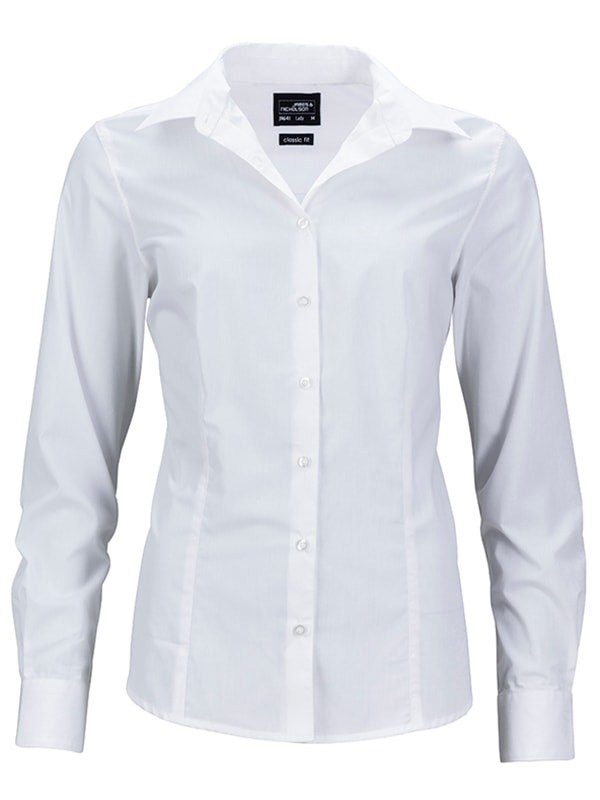 Dámská košile s dlouhým rukávem JN641 - Bílá | L