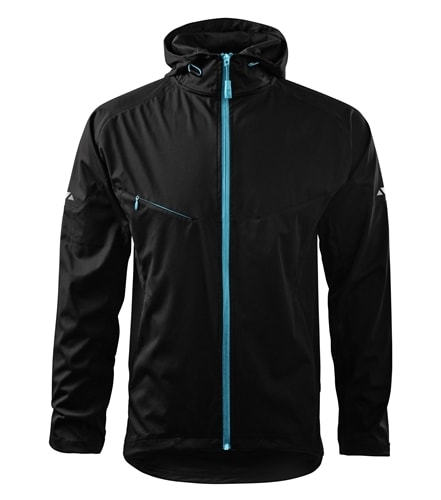 Lehká pánská softshellová bunda COOL - Černá | XL