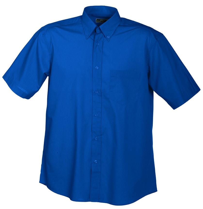 Pánská košile s krátkým rukávem JN601 - Královská modrá | XXXL