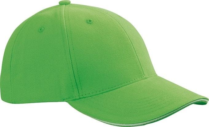 Reklamní kšiltovka 6 panelová sandwich MB024 - Limetkově zelená / bílá | uni