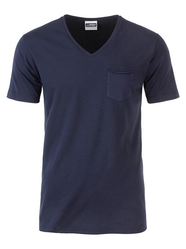 Pánské tričko z biobavlny 8004 - Tmavě modrá | M