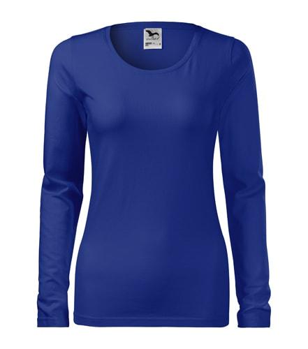 Dámské tričko s dlouhým rukávem Slim Adler - Královská modrá | XXL