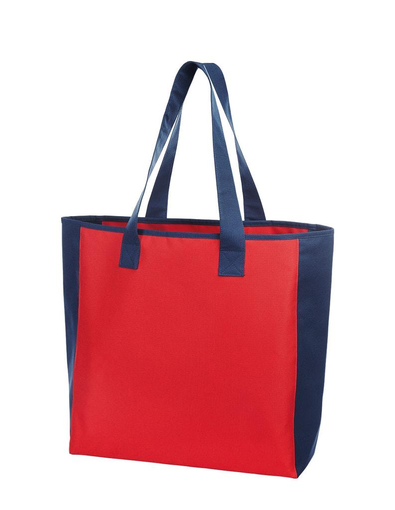 Nákupní taška OPTION - Červeno-tmavě modrá