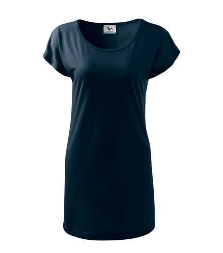 Dámské dlouhé tričko - Námořní modrá | L