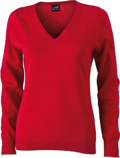 Dámský bavlněný svetr JN658 - Červená | XXL