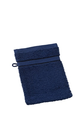 Myrtle Beach Umývacia froté žinka MB435 - Tmavě modrá | 15 x 21 cm