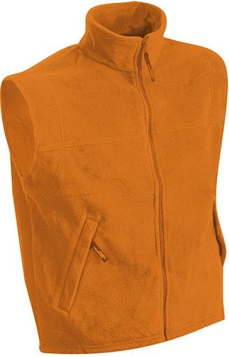 Pánská fleecová vesta JN045 - Oranžová | XXXL