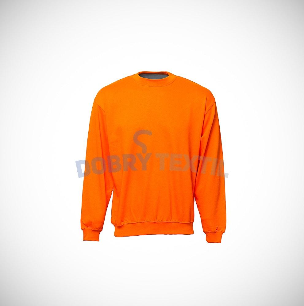 Mikina bez kapuce - Oranžová | M