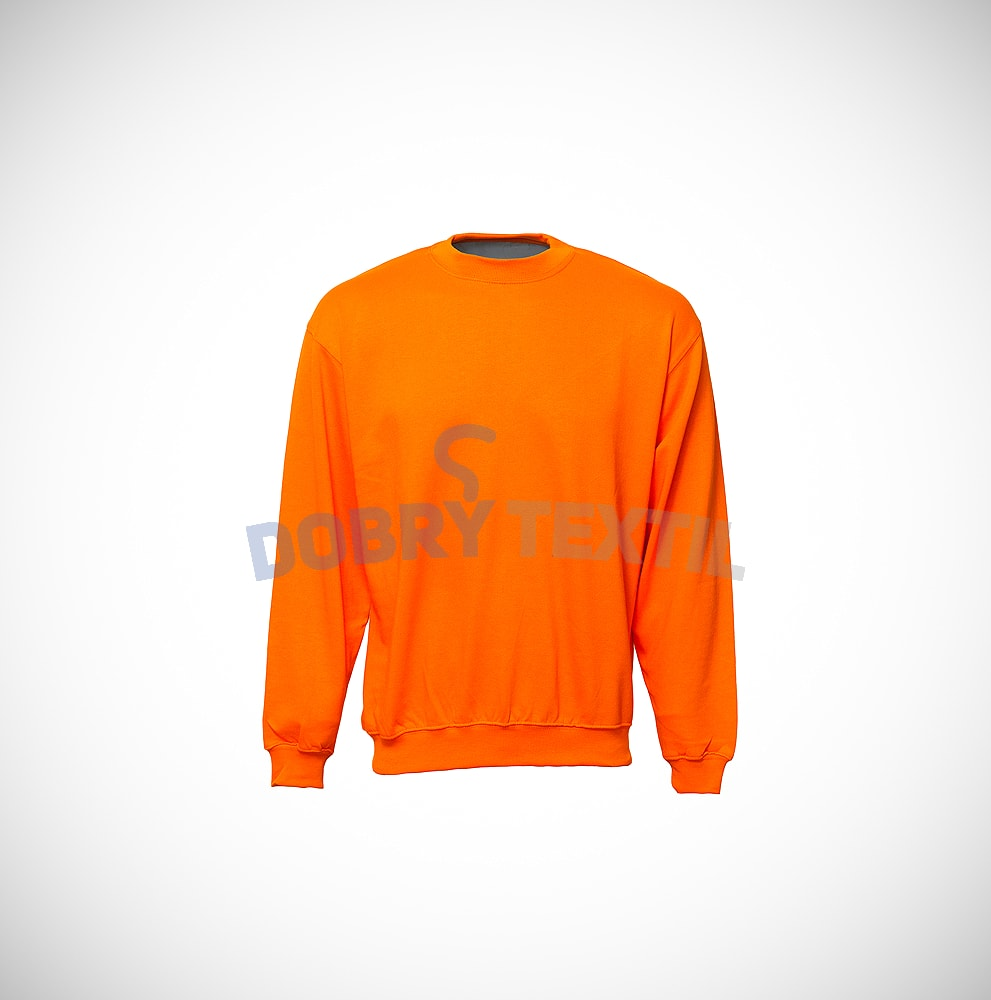 Mikina bez kapuce - Oranžová | XL