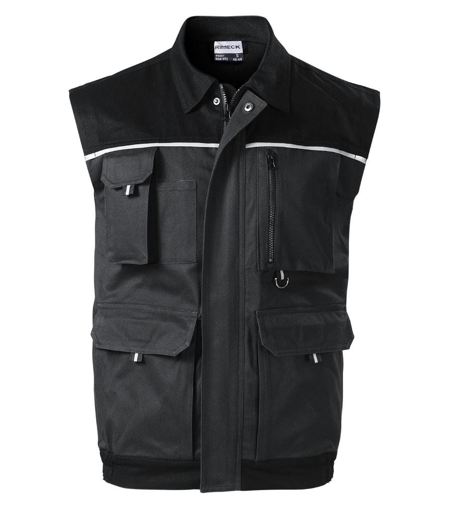 Pracovní vesta WOODY - Ebony gray | XL
