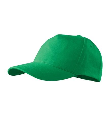 Kšiltovka 5P - Středně zelená | uni