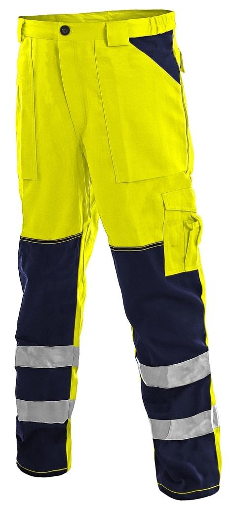 Pracovní reflexní kalhoty NORWICH - Žlutá | 52