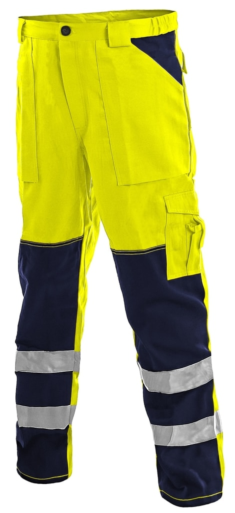 Pracovní reflexní kalhoty NORWICH - Žlutá | 48