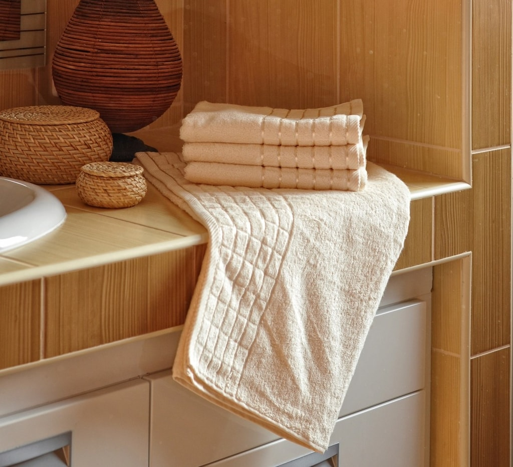 Bambusový ručník - Smetanová   50 x 100 cm