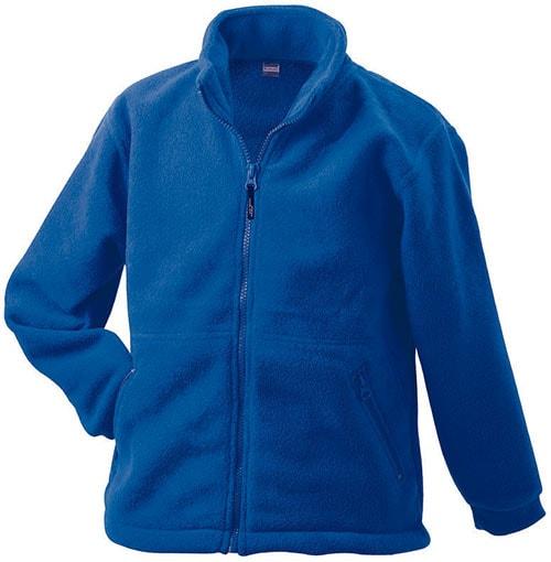 Dětská fleece mikina JN044k - Královská modrá | XL
