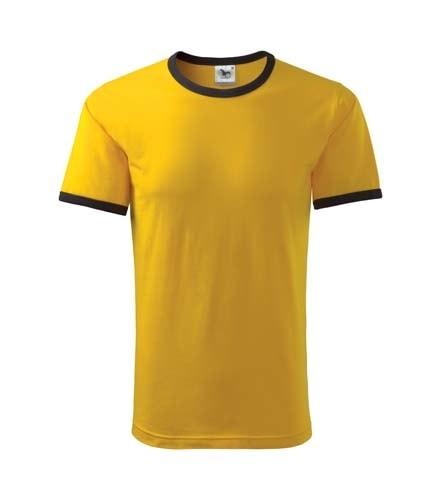 Pánské dvoubarevné tričko Adler - Žlutá | XL
