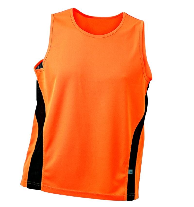 ... tričko bez rukávů JN305 Oranžová   černá 0683dd710f