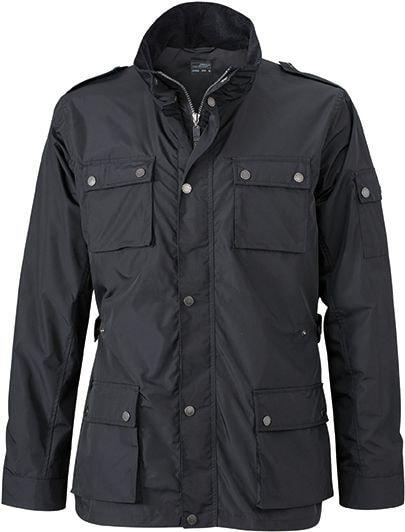 James & Nicholson Pánska štýlová bunda JN1056 - Černá | XXXL