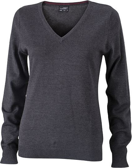 Dámský bavlněný svetr JN658 - Antracitový melír | M