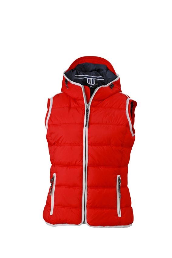Dámská sportovní vesta JN1075 - Červená / bílá | XL