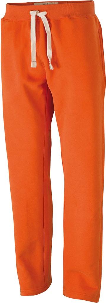 Pánské sportovní tepláky JN945 - Tmavě oranžová   S