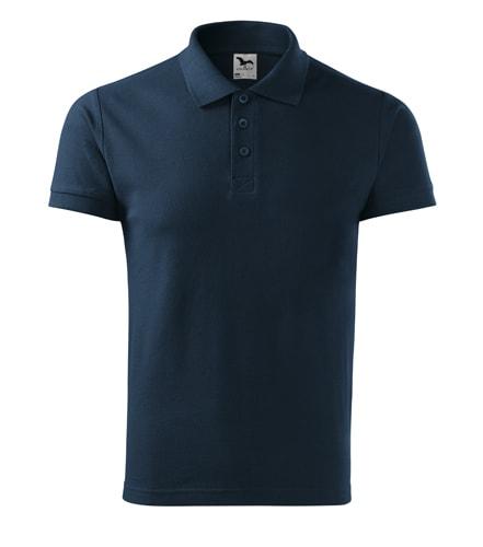 Pánská polokošile Cotton Heavy - Námořní modrá | M