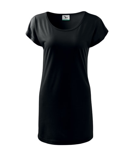 Dámské dlouhé tričko - Černá | L