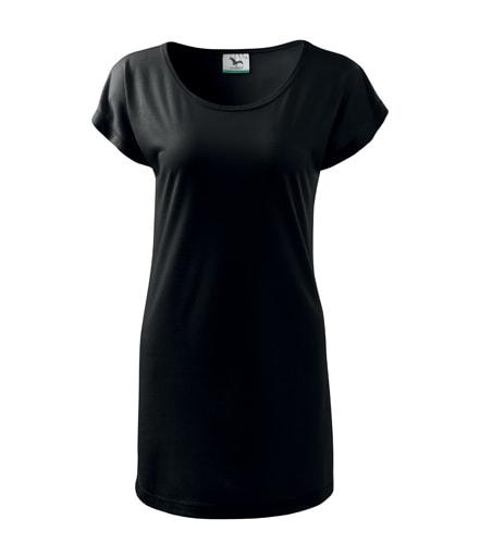 Dámské dlouhé tričko - Černá | XXL