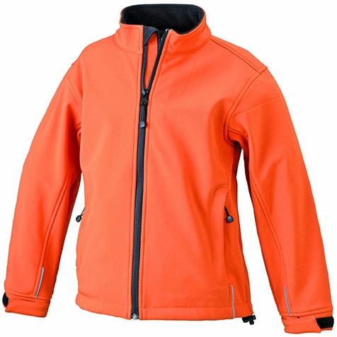 Dětská softshellová bunda JN135k - Oranžová | XXL