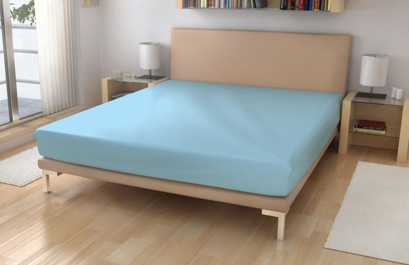 Froté prostěradlo - Světle modrá | 90 x 200 cm