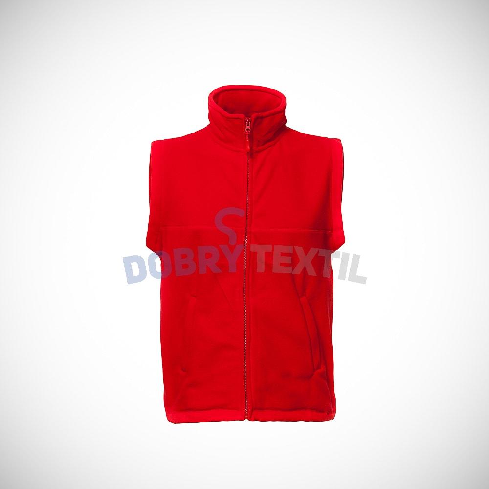 Fleecová vesta - Červená | XXXL