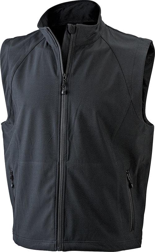 Pánská softshellová vesta JN1022 - Černá | M