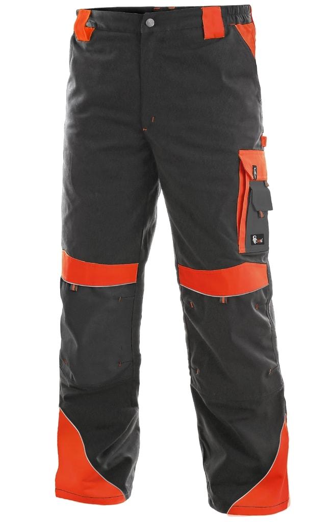 Pracovní kalhoty SIRIUS BRIGHTON - Šedá / červená | 64
