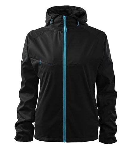 Lehká dámská softshellová bunda COOL - Černá | XXL