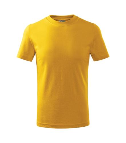 Dětské tričko Basic Adler - Žlutá | 122 (6 let)