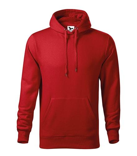 Fleecovy mikina cervena xxxl levně  de5811cebb