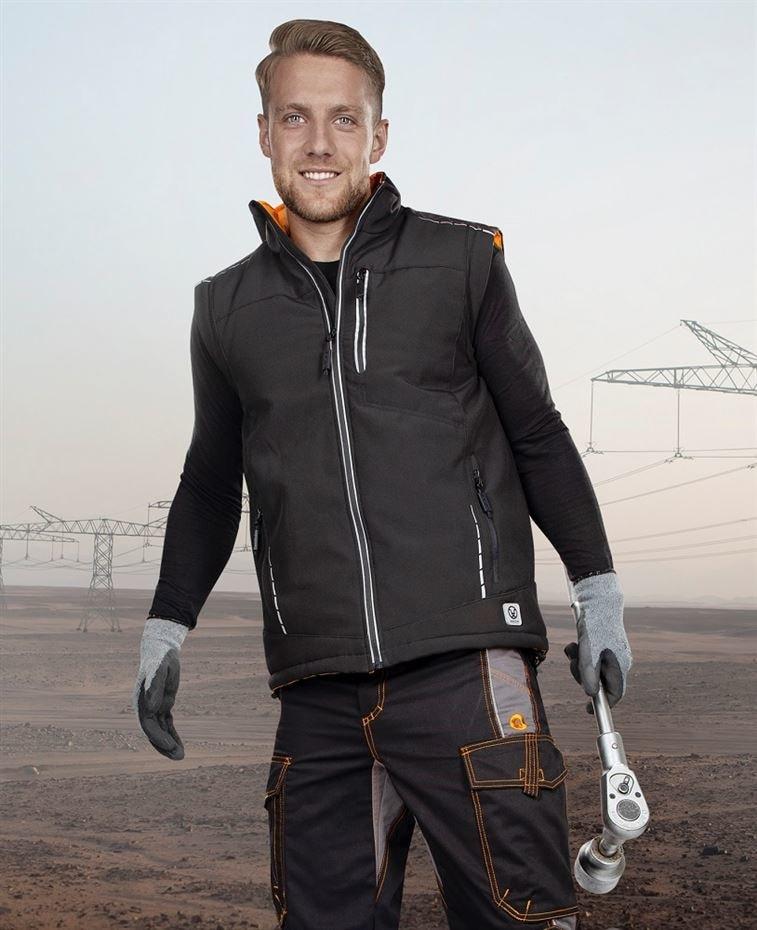 Zimní softshellová vesta VISION - L