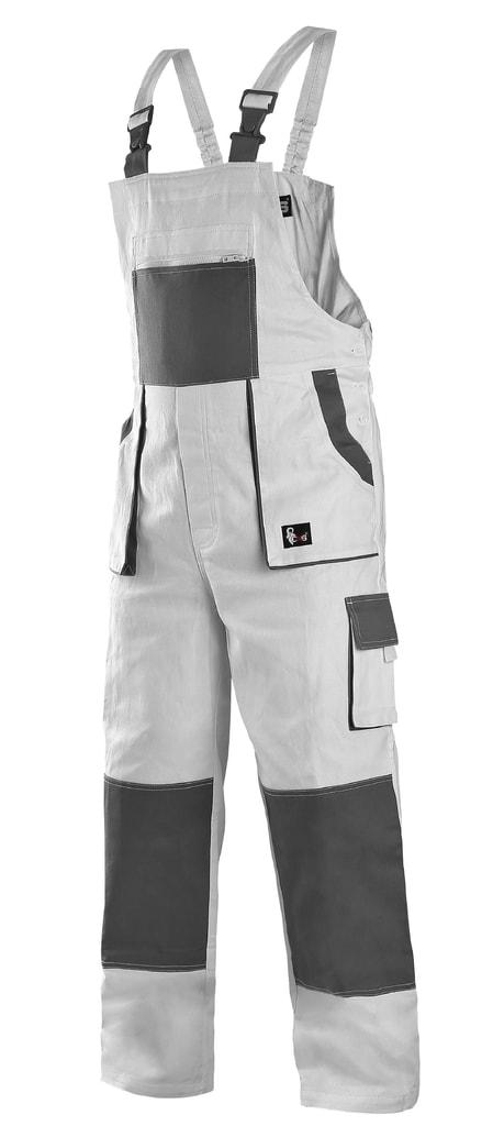 Pracovní kalhoty s laclem CXS LUXY ROBIN - Bílá / šedá | 56