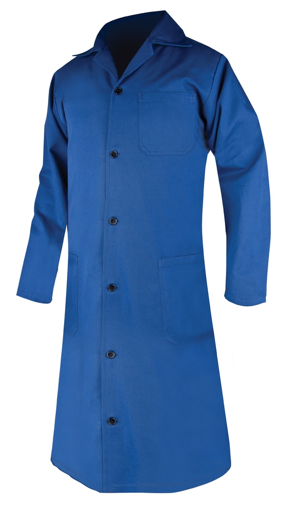 Dámský bavlněný plášť - Modrá | 62