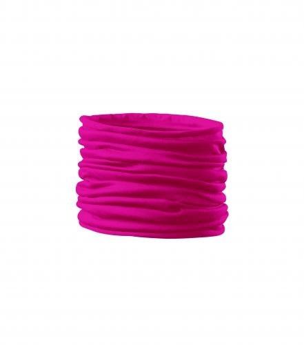Multifunkční šátek Twister - Neonově růžová | uni