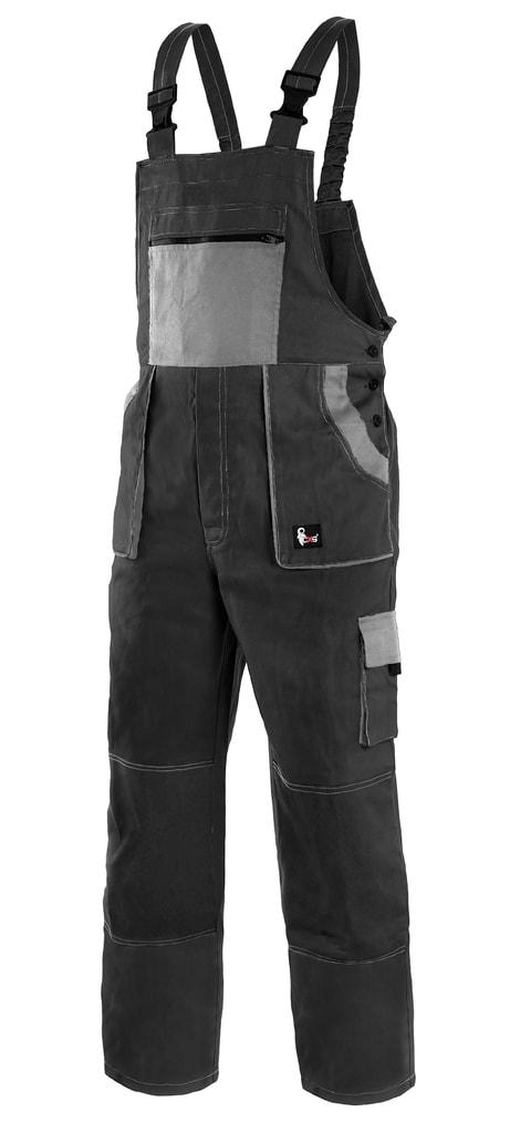 Pracovní kalhoty s laclem CXS LUXY ROBIN - Černá / šedá | 56