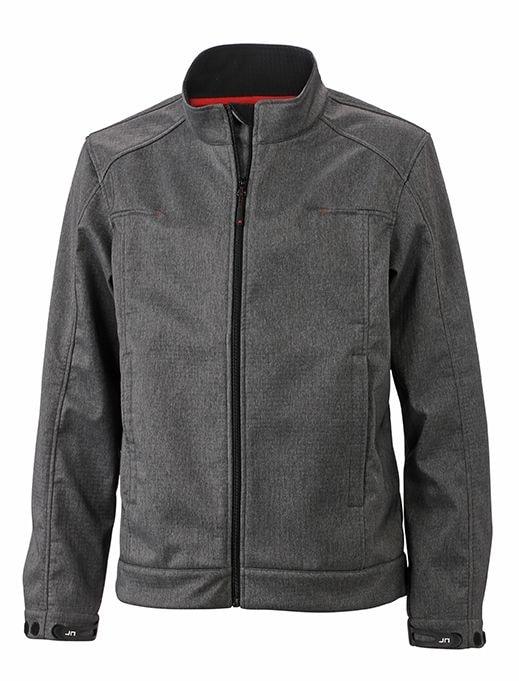 Pánská softshellová bunda JN1088 - Tmavý melír | XXXL