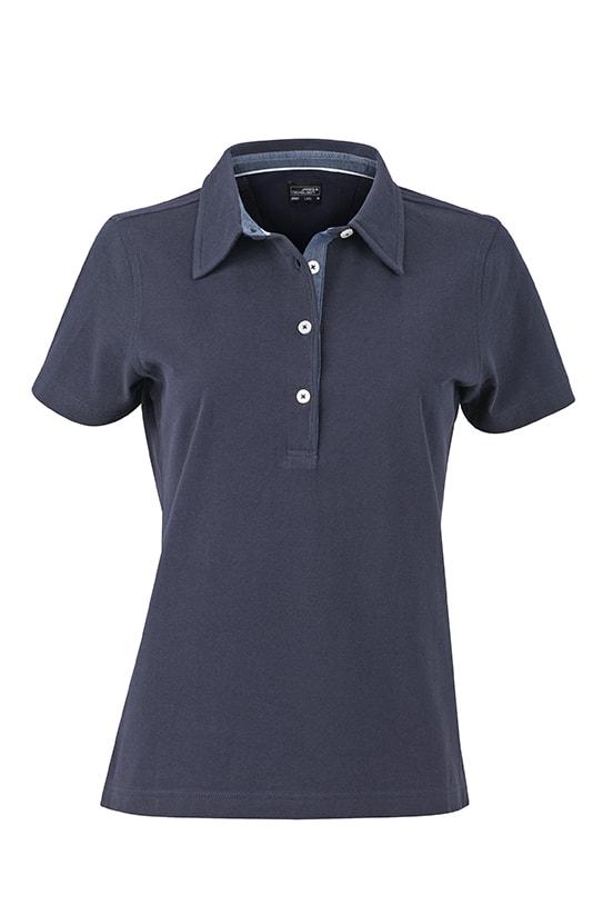 Elegantní dámská polokošile JN969 - Tmavě modrá / světlý denim | L