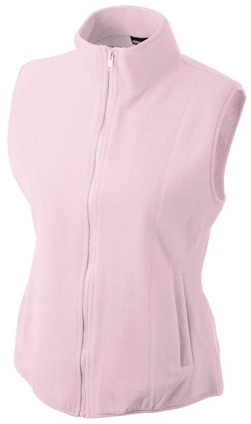 Dámská fleecová vesta JN048 - Světle růžová | XL