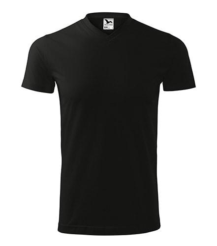 Tričko Heavy V-neck - Černá | XXXXL