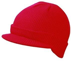 Zimní čepice s kšiltem MB7530 - Červená | uni