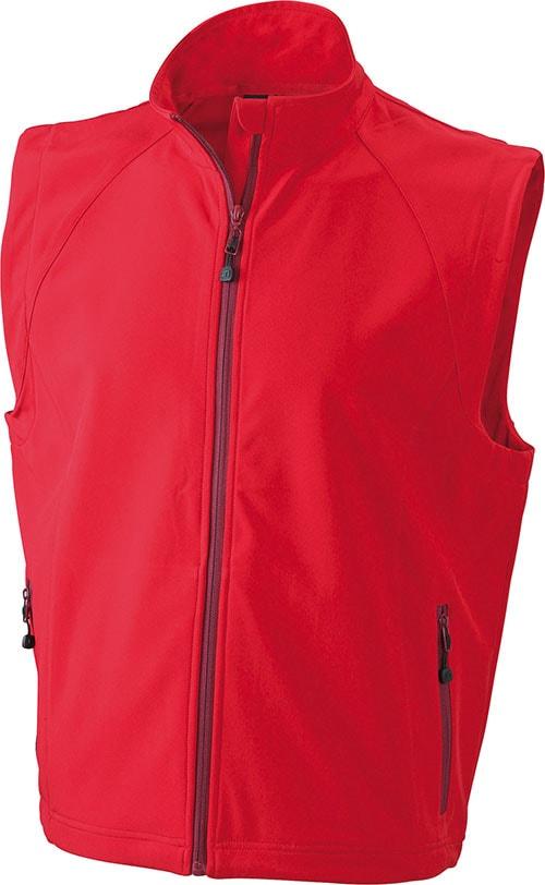 Pánská softshellová vesta JN1022 - Červená | XXXL