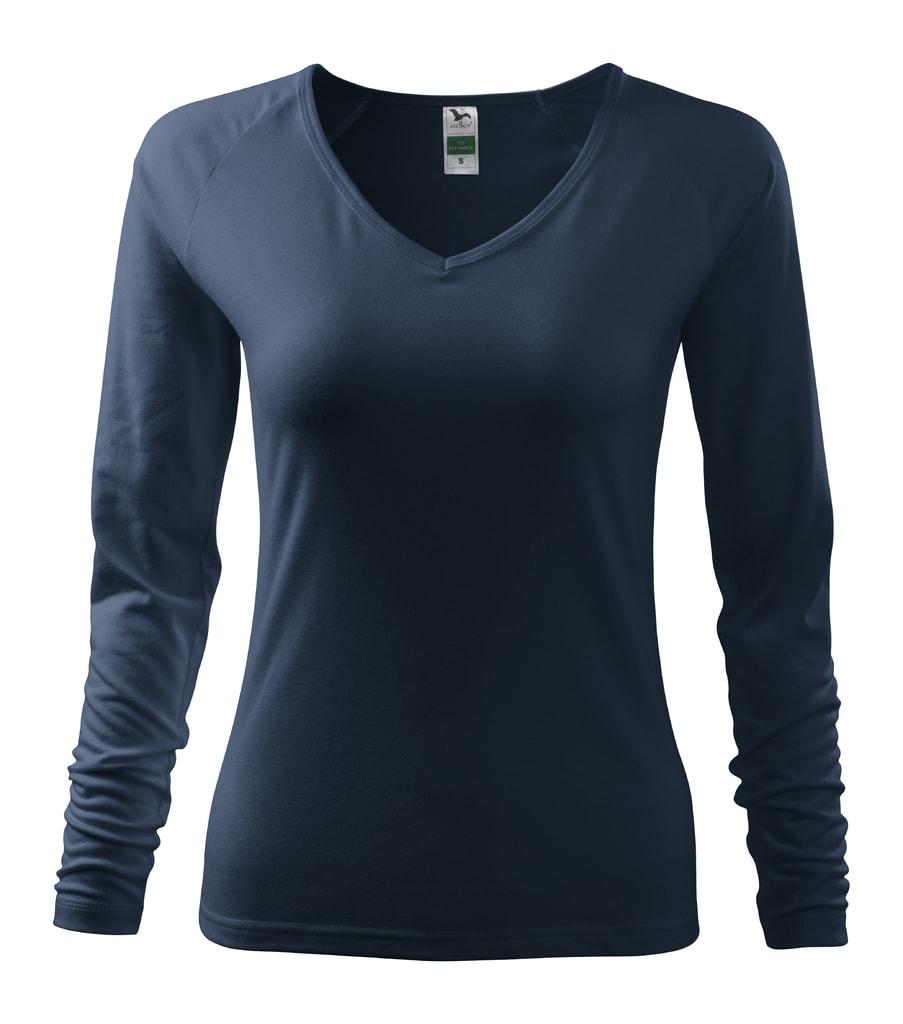 Dámské tričko s dlouhým rukávem - Námořní modrá | XXL